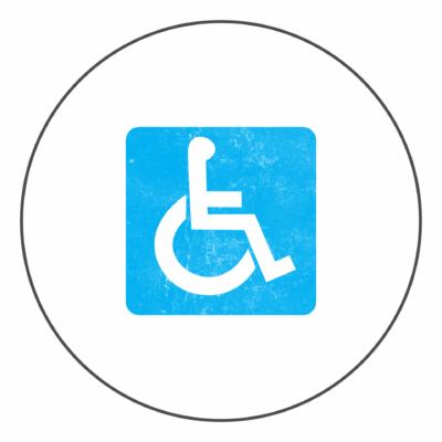 Знаки и разметка - парковка для инвалидов