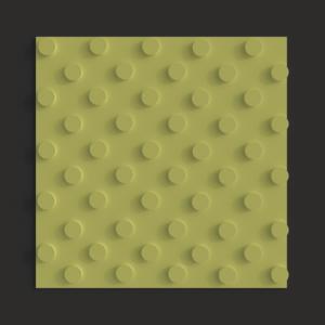 Тактильная плитка ПВХ шахматный конус