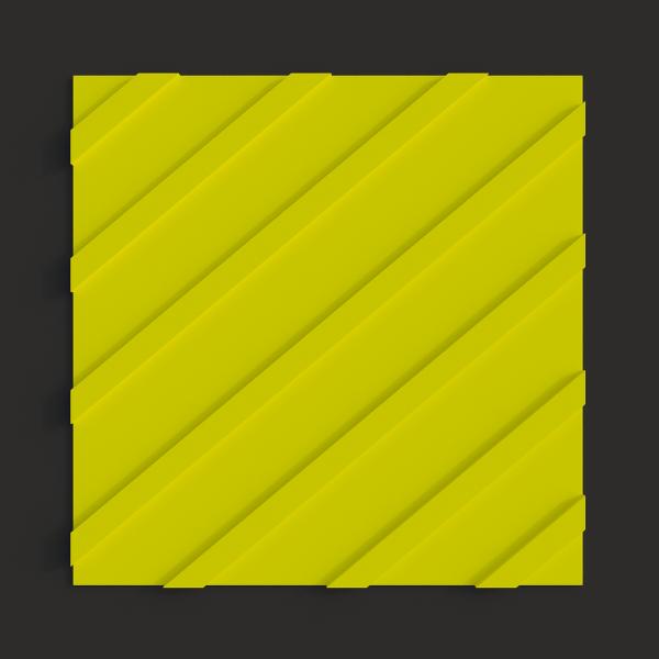 Тактильная полиуретановая плитка диагональный риф