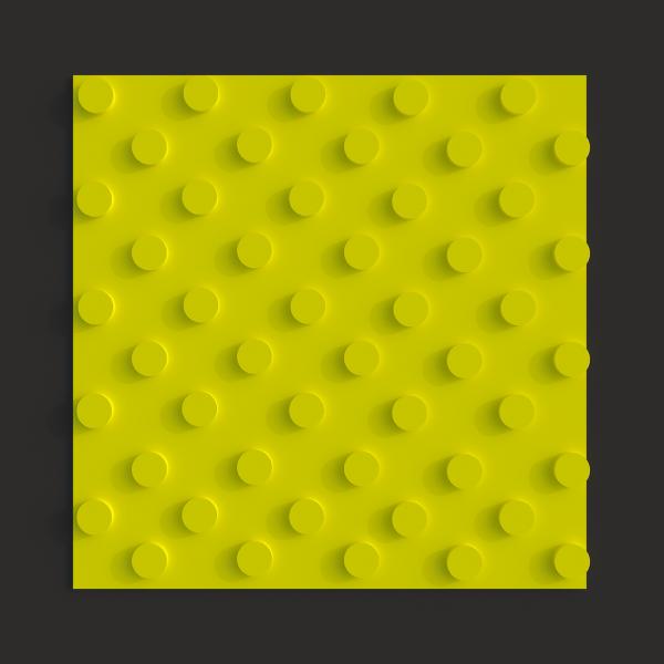 Тактильная полиуретановая плитка шахматный конус