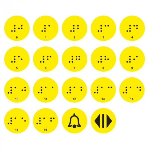 Тактильные наклейки для кнопок ПВХ