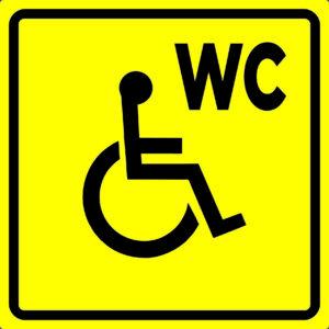 Тактильная пиктограмма - Туалет для инвалидов