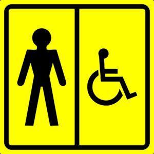 Тактильная пиктограмма - Туалет для инвалидов (М) Мужской