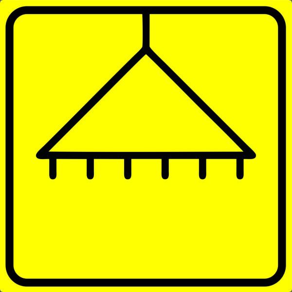 Тактильная пиктограмма - душ