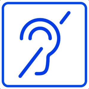 Пиктограмма - доступно для слабослышащих