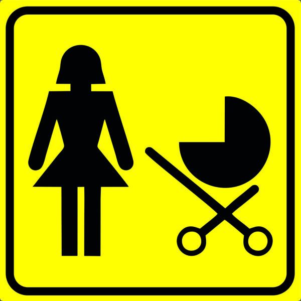 Пиктограмма - мать и ребёнок