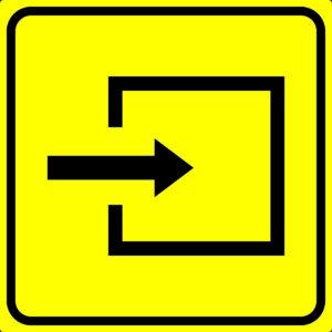 Пиктограмма вход в помещение