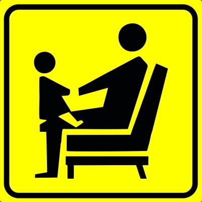 Пиктограмма места для инвалидов, пожилых с детьми